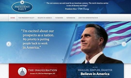Mitt Romney website