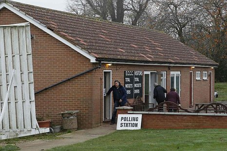 Corby by-election polling station