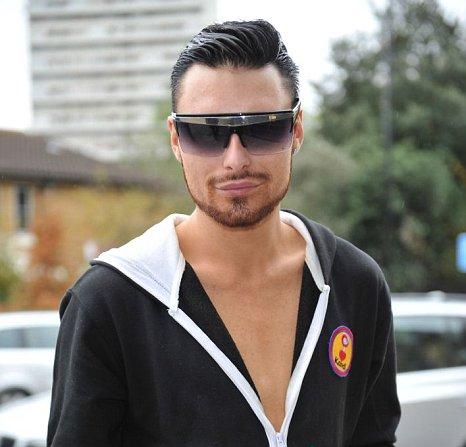X Factor's Rylan Clark arrives for rehearsals
