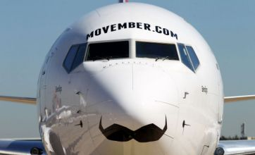 Airlines paint moustaches on planes to support Movember