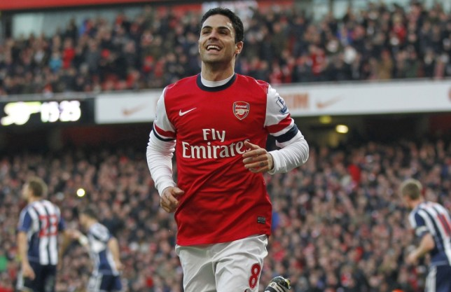 Mikel Arteta scored twice from the penalty spot as Arsenal beat West Brom 2-0 (Picture: AFP)