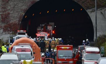 Japan motorway tunnel collapse leaves at least five people dead