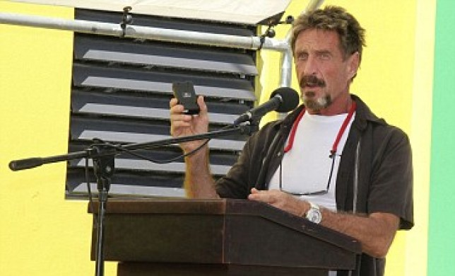On the run: Fugitive tycoon John McAfee (Picture: AP)