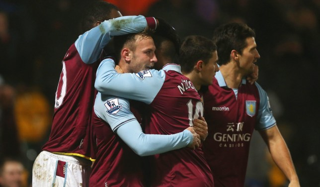 Aston Villa proved too strong for Norwich in the Capital One Cup (Picture: Reuters/Action Images)
