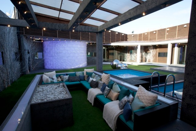 A view of the Big Brother garden (Channel 5)