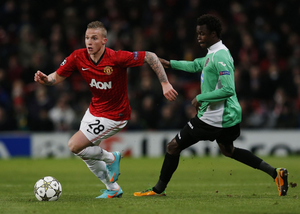 Alex Buttner (left) joined Manchester United during the summer transfer window (Picture: Reuters)
