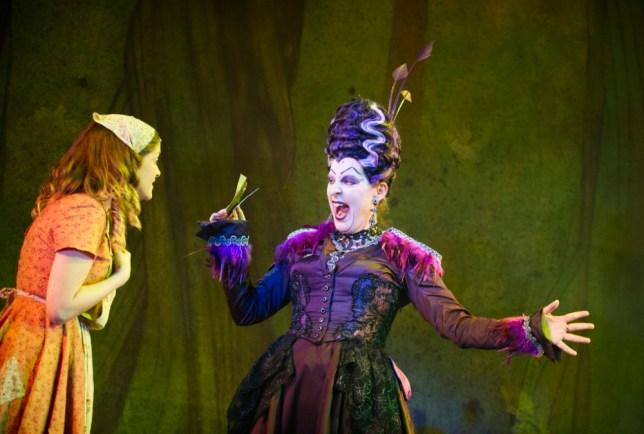 Mel Giedroyc stars as Mrs Hardup in Cinderella (Picture: Tristram Kenton)