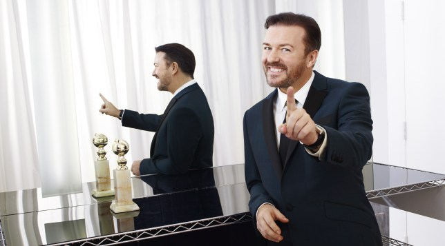 Ricky Gervais at 68th Annual Golden Globe Awards