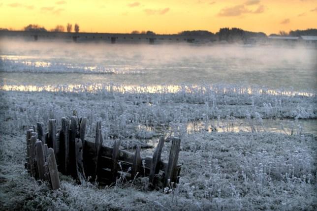 Wintry scenes in Shoreham, West Sussex