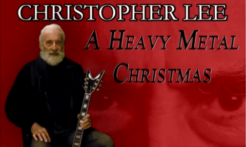 Have a heavy metal Christmas with Christopher Lee