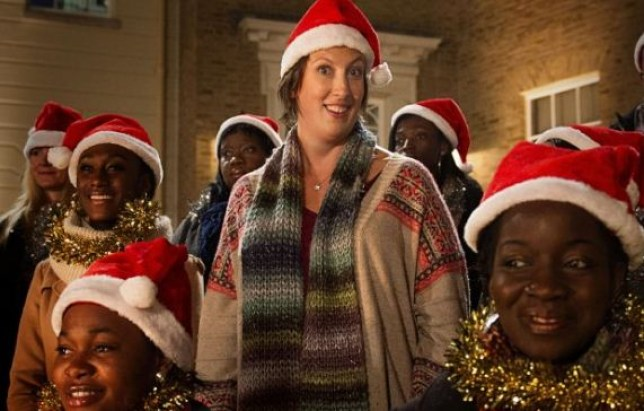 Miranda may or may not fall over in this year's Christmas special (Picture: BBC)
