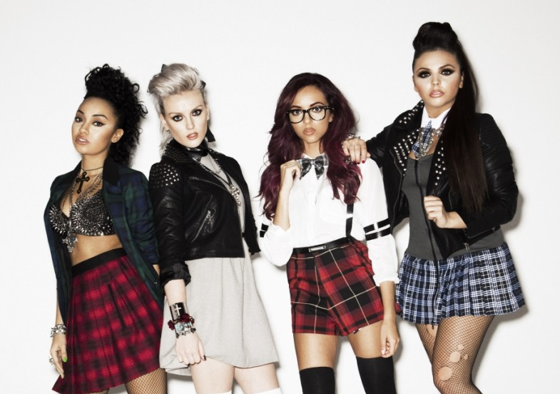 Little Mix work the sexy schoolgirl look