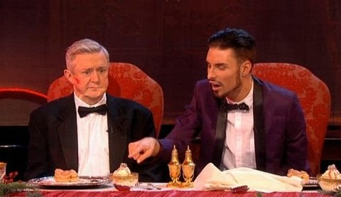 Rylan Clark and Louis Walsh devour pig penises in I'm A Celeb-style Yuletucker trial for Text Santa