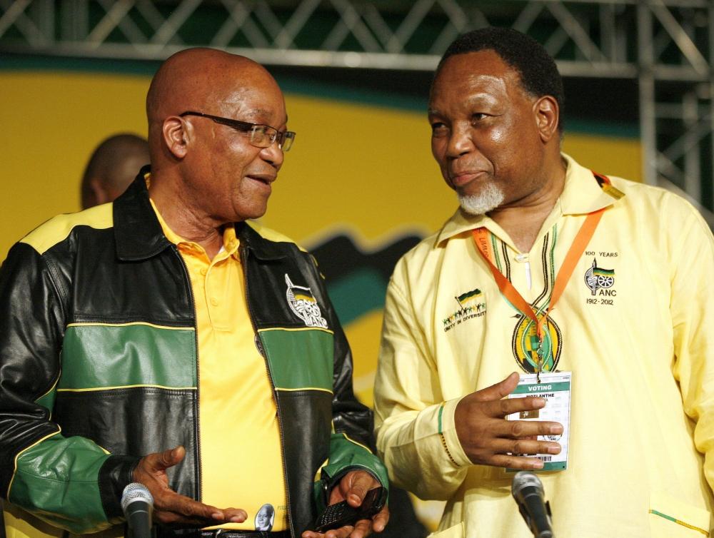 Jacob Zuma and his ANC deputy Kgalema Motlanthe (Picture: AP)