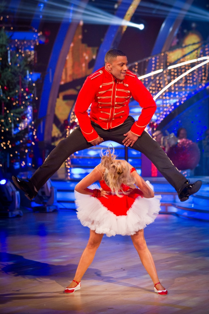JB Gill and Ola Jordan taking part in the Strictly Come Dancing Christmas Special 2012. :