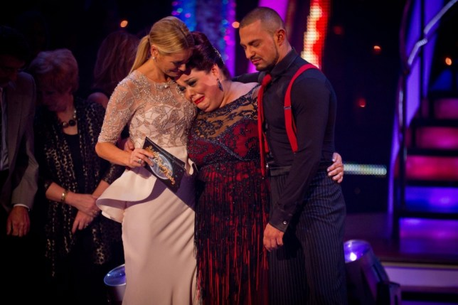 Lisa Riley cries on Strictly Come Dancing