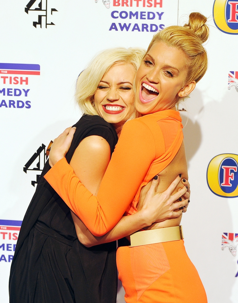 Ex Pussycat Dolls Ashley Roberts and Kimberly Wyatt reunite at British Comedy Awards