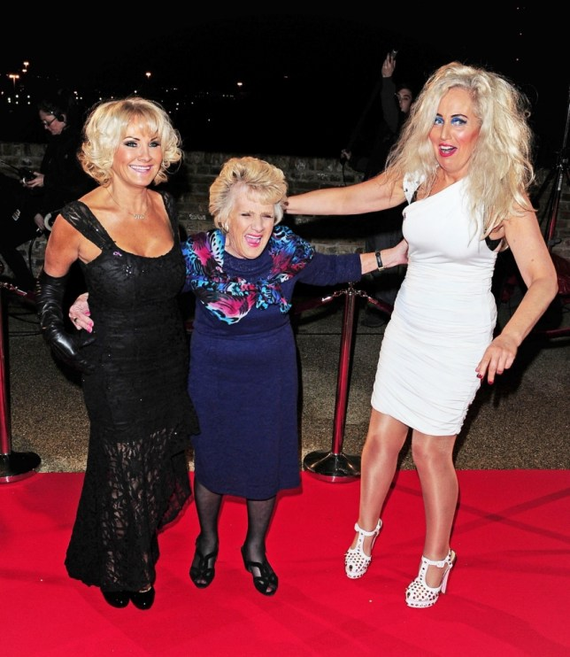 Carol Wright, Nanny Pat and Debbie Bright on the red carpet (Picture: XPOSUREPHOTOS.COM)