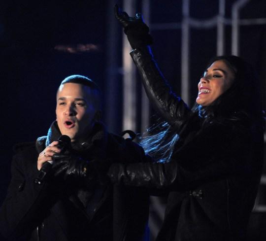 Nicole Scherzinger and X Factor finalist Jahmene Douglas