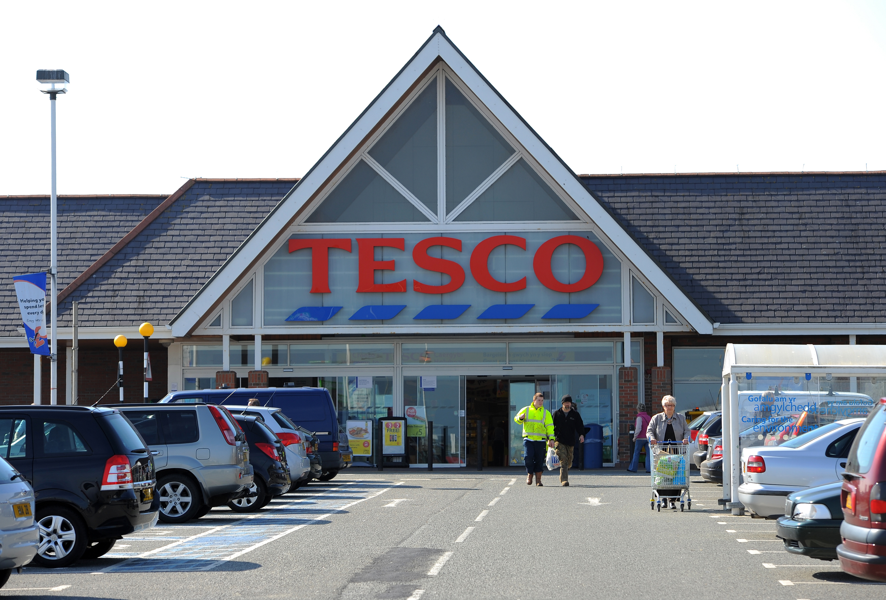 The Tesco supermarket in Holyhead