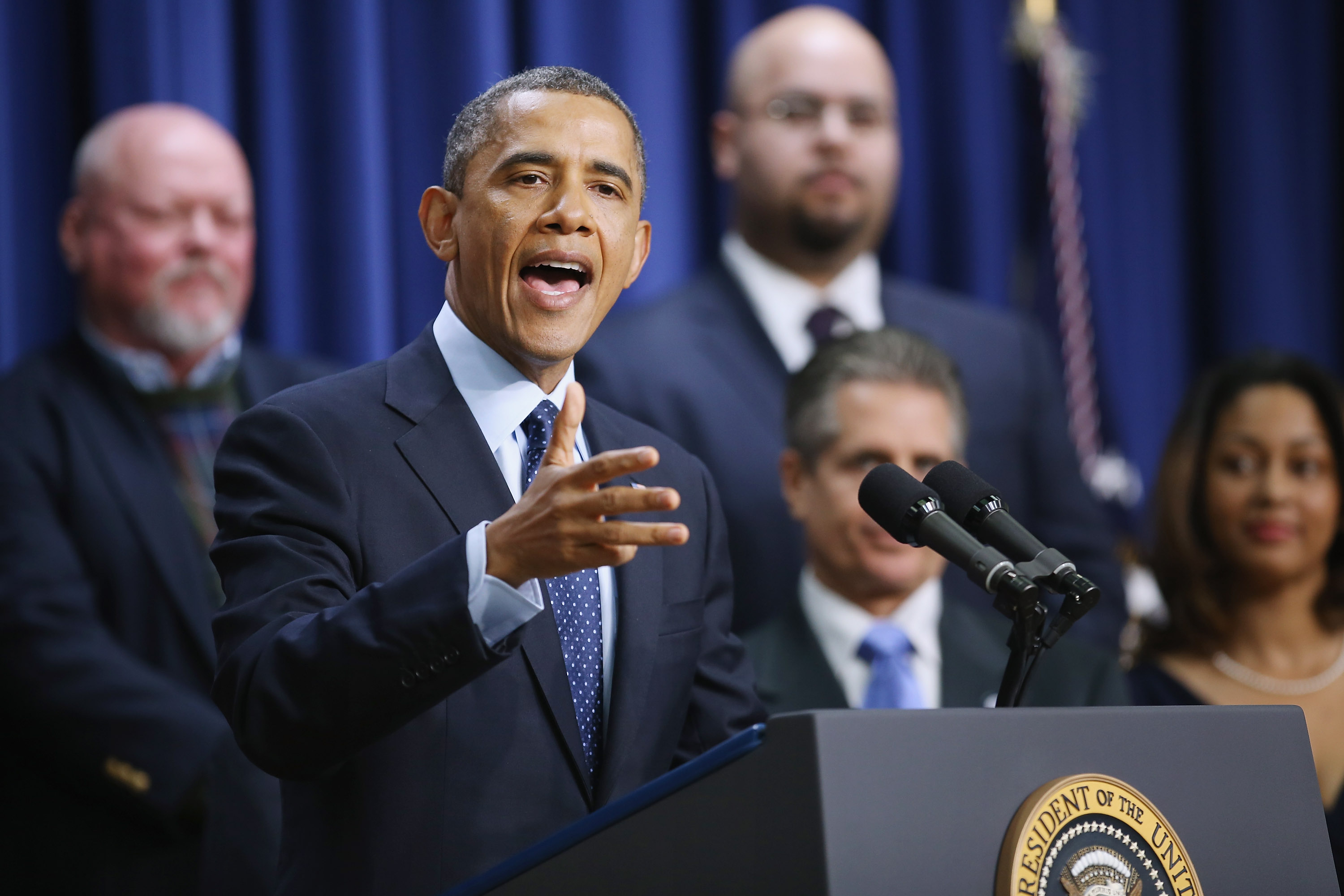 President Barack Obama Discusses The Fiscal Cliff Negotiations