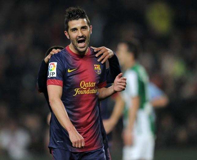 Barcelona's forward David Villa