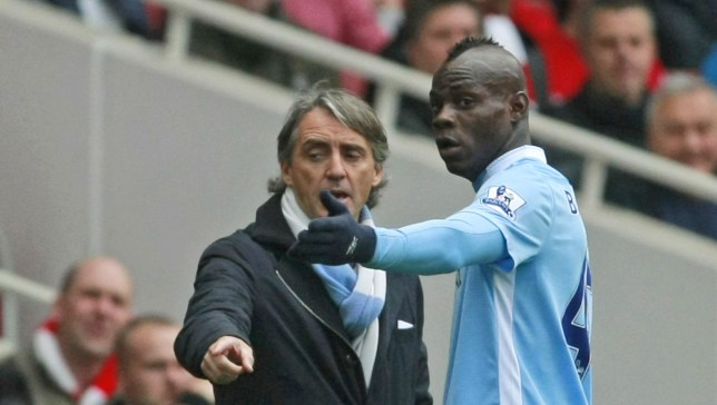 Fall out: Roberto Mancini says Mario Balotelli can stay at the club (Picture: AP)