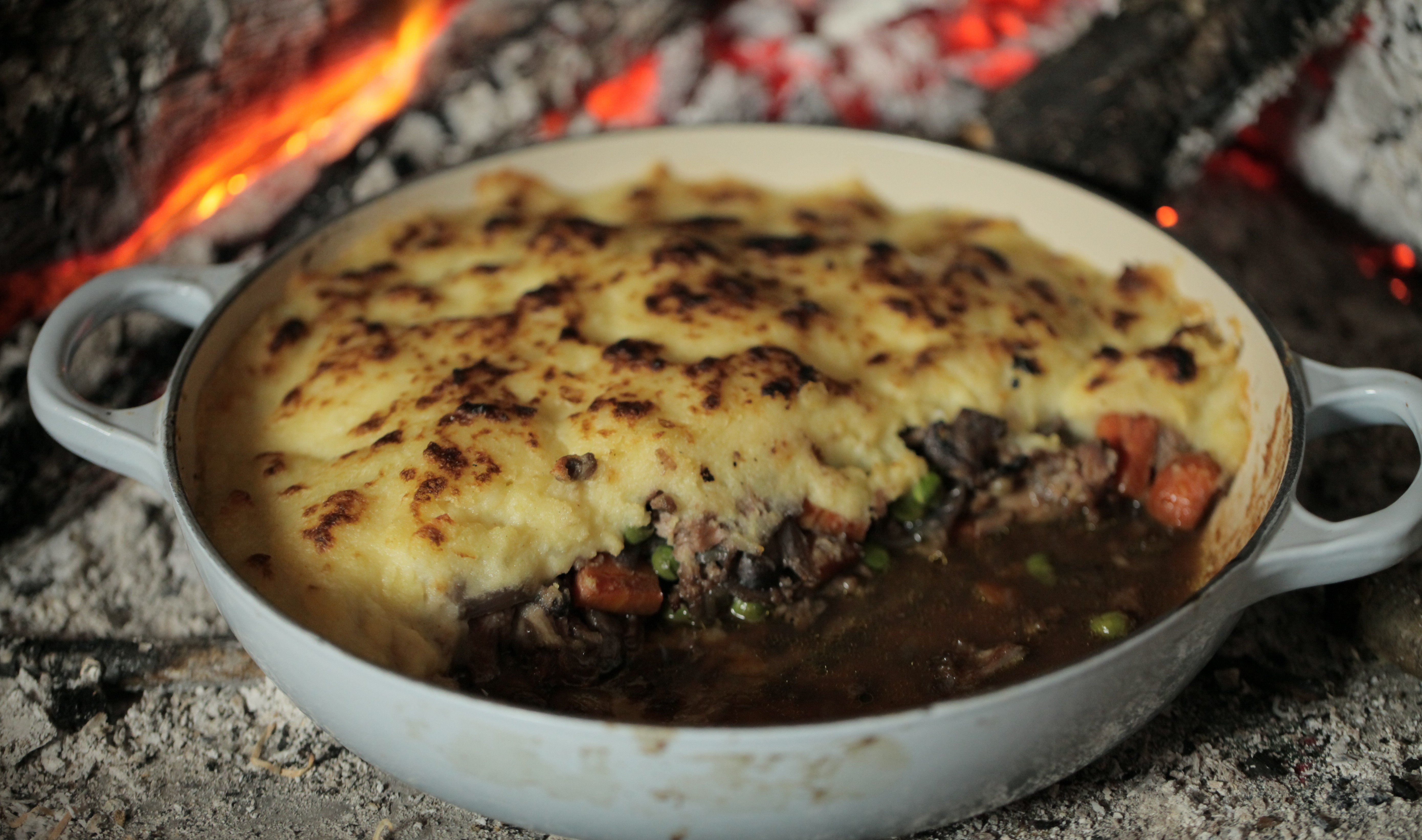 Ultimate comfort food: Chloe's shepherd's pie; below left, Clarissa Dickson Wright's version (Picture: Metro)
