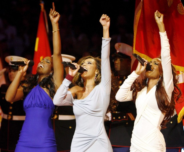 Destiny's Child reunite for first track in eight years epa03530963 (FILE) A file picture dated 19 February 2006 shows members of US band Destiny's Child, (L-R) Kelly Rowland, Beyonce Knowles and Michelle Williams singing the National Anthem before the start of the 2006 NBA All-Star game at the Toyota Center in Houston, Texas, USA. According to reports on 10 January 2013, Destiny's Child will release their first new song entitled 'Nuclear' in eight years. It will be part of a compilation of their most romantic songs, called 'Love Songs'.  EPA/TANNEN MAURY