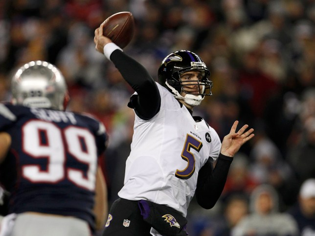 Taking no Flacco: Joe Flacco could prove critical for the Baltimore Ravens (Picture: Reuters)