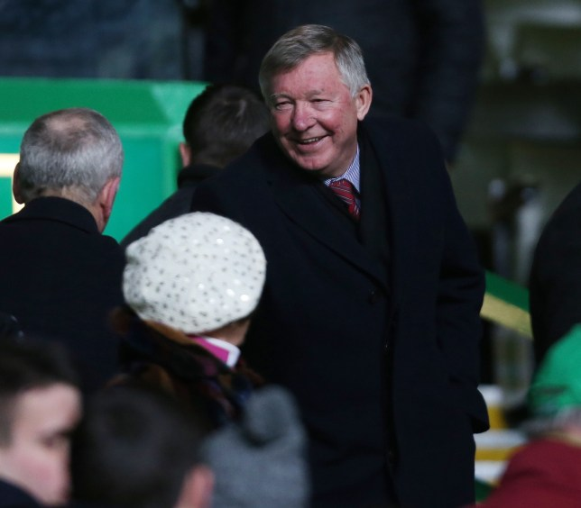 Talent spotter: Sir Alex Ferguson takes his seat to watch Victor Wanyama (Picture: Reuters)