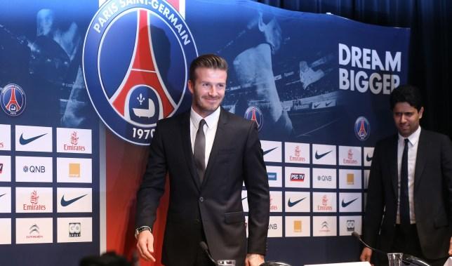 Former England captain David Beckham arr