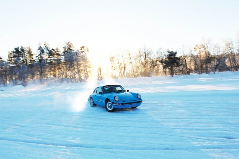 On the ice: Take a Porsche for a spin on a replica Silverstone