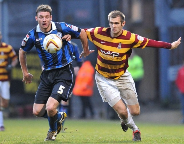 Bantams puncing above their weight: Bradford's James Hanson in action