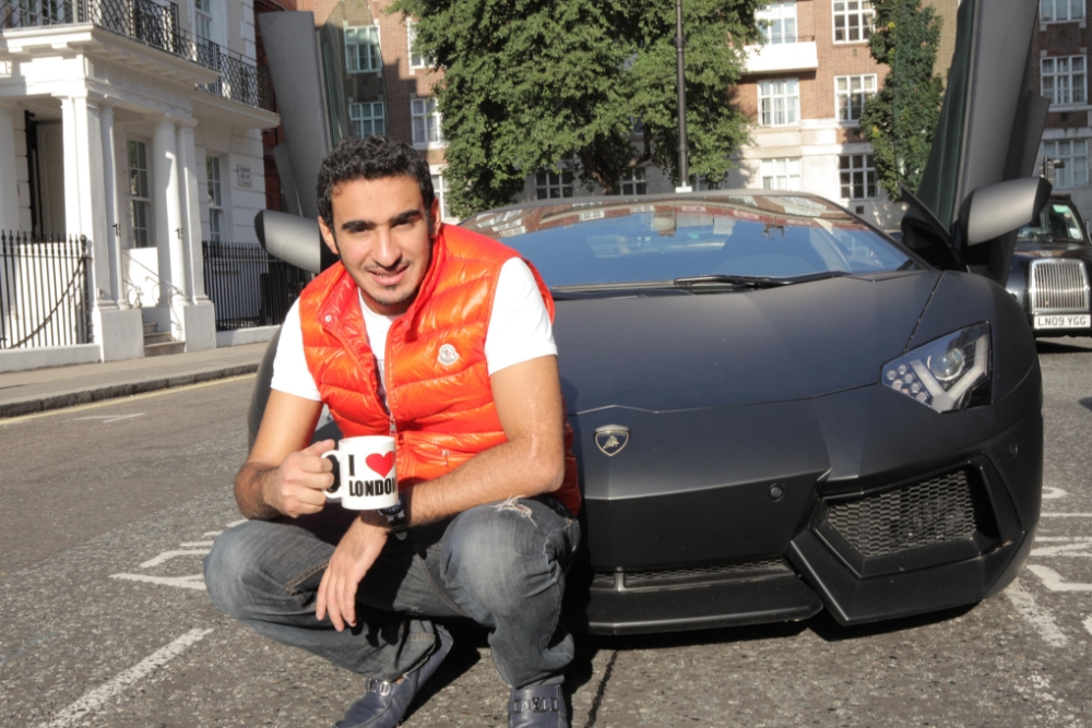 Rashed poses with his boy toy (Picture: Channel 4)