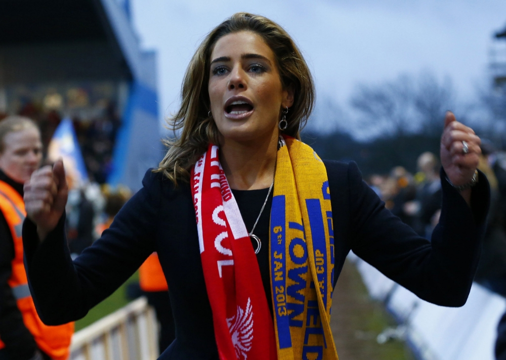 Carolyn Radford had the cameras trained on her every move during the Liverpool tie (Picture: Reuters)