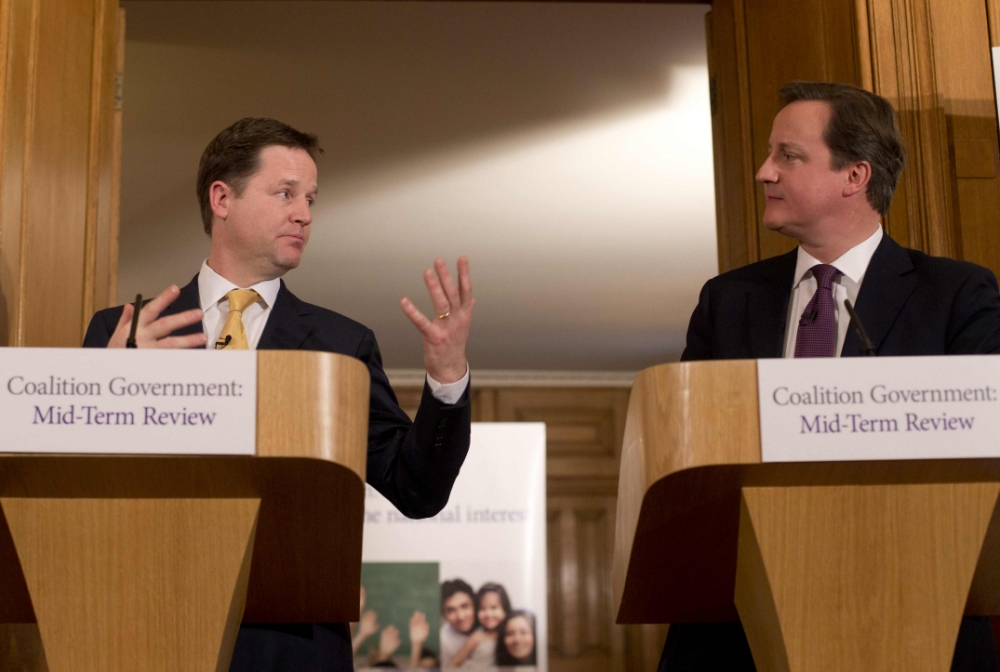 David Cameron and Nick Clegg: 'Ronseal' coalition government is here to stay