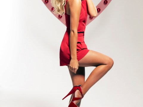 The Saturdays' Mollie King dazzles in red as she signs-up to National Heart Month