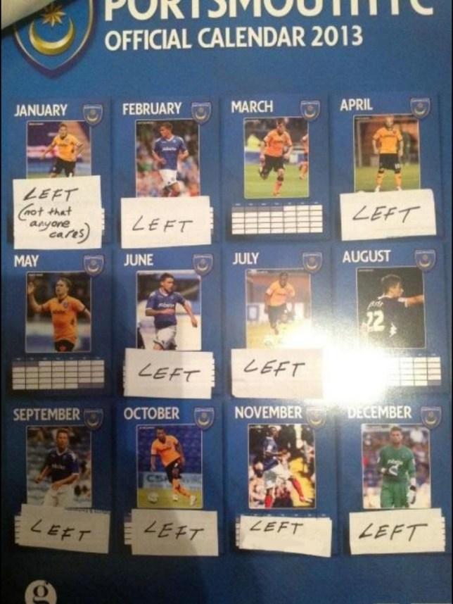 Portsmouth's 2013 calendar