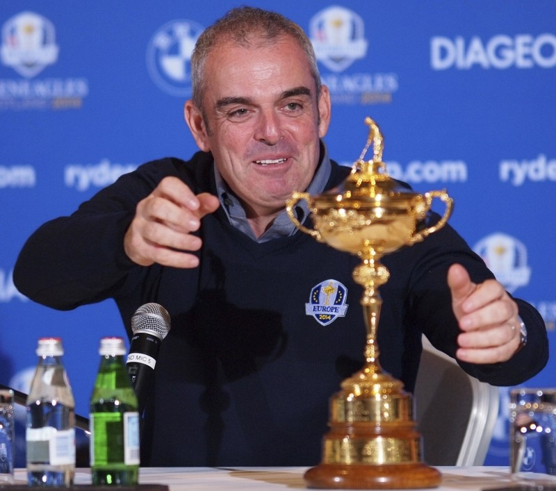 In safe hands: McGinley prepares to get to grips with the Ryder Cup