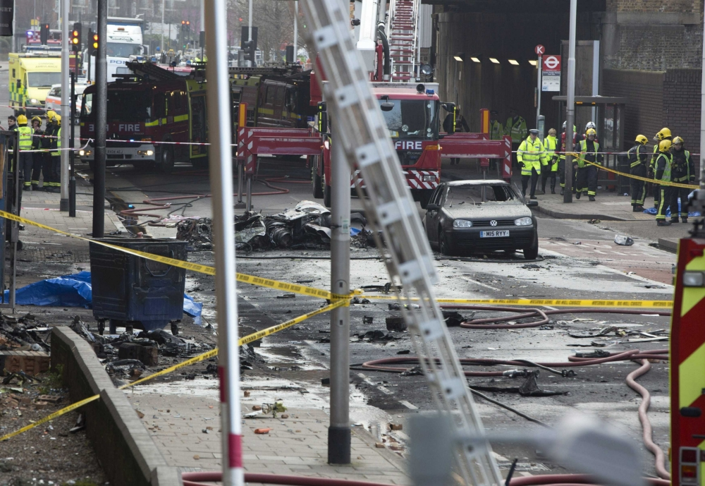 Vauxhall helicopter crash: Workmen saved by oversleeping
