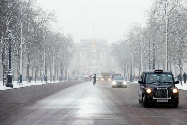 Snowy central London on Blue Monday
