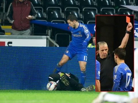 Eden Hazard 'sorry' for kicking Swansea ball boy