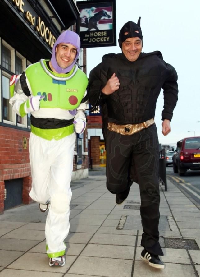 Batman, aka Steve Lowe, and Buzz Lightyear sidekick Shane Lee