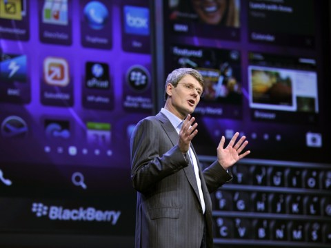 Struggling smartphone maker Blackberry contemplates a sale
