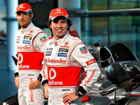 Jenson Button and McLaren rival Sergio Perez kiss and make-up on Twitter
