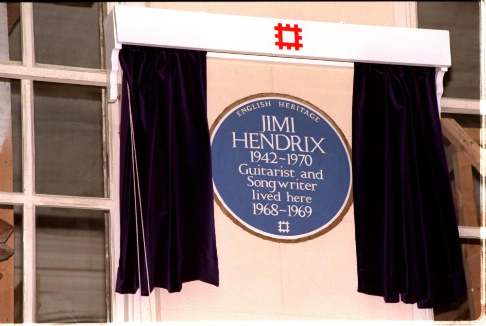 Blue plaque, Jimi Hendrix