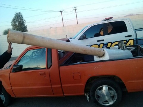 Marijuana cannon used to hurl drug parcels over US border seized by police