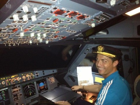Real Madrid star Cristiano Ronaldo 'gets to be a pilot for the day'