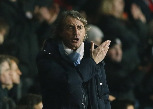 Roberto Mancini has come under pressure following Manchester City's recent form (Picture: Reuters)
